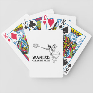 WANTED Cleaning Fairy Bicycle Playing Cards