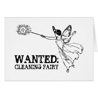 WANTED Cleaning Fairy Card