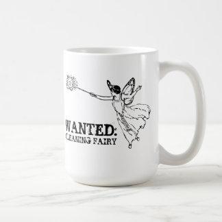 WANTED Cleaning Fairy Coffee Mug