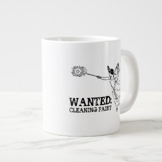 WANTED Cleaning Fairy Large Coffee Mug