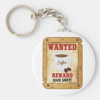 Wanted Coffee Keychain