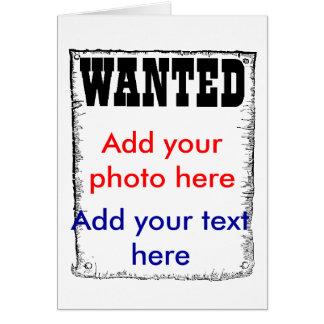 Wanted criminal jail cell prison prisoner photo card