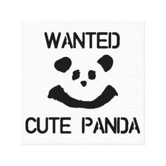 WANTED Cute Panda Canvas Print