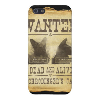 Wanted dead and alive. Schroedinger's cat. iPhone 5 Cover