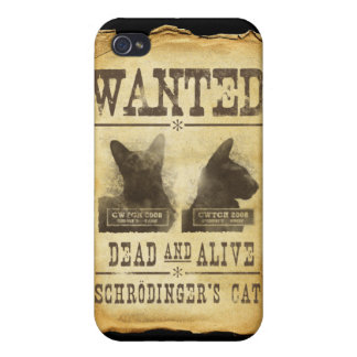 Wanted dead and alive. Schroedinger's cat. iPhone 4/4S Case