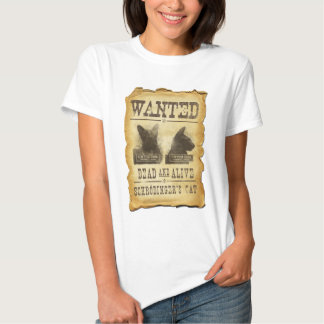 Wanted dead and alive.  Schroedinger's cat. Tshirt