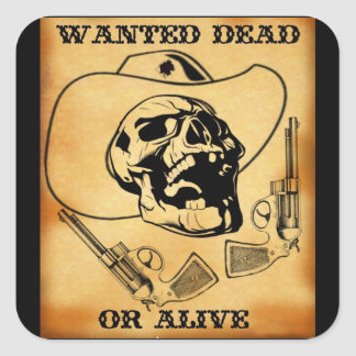 wanted dead or alive 1 stickers