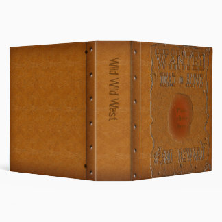 Wanted Dead or Alive 3 Ring Binder