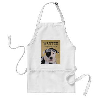 Wanted dead or alive adult apron