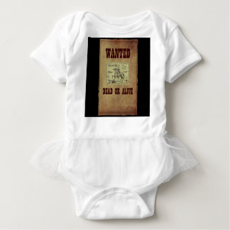 Wanted Dead or Alive Baby Bodysuit