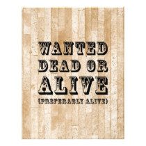 Wanted Dead or Alive Flyer