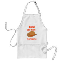 Wanted Dead or Alive Grilling Apron
