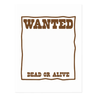 WANTED dead or Alive poster Postcard