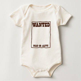 WANTED dead or Alive poster with blank background Baby Bodysuit