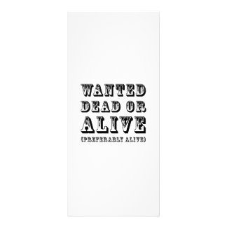 Wanted Dead or Alive Rack Card Template