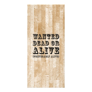 Wanted Dead or Alive Custom Rack Card