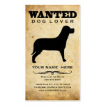 wanted : dog lover Double-Sided standard business cards (Pack of 100)