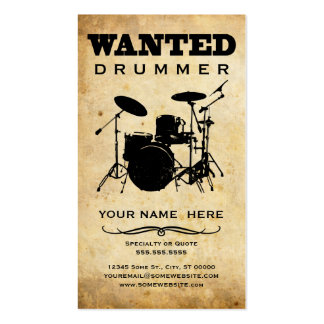 wanted : drummer business card templates