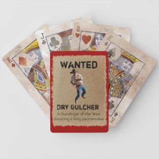 Wanted - Dry Gulcher Playing Cards