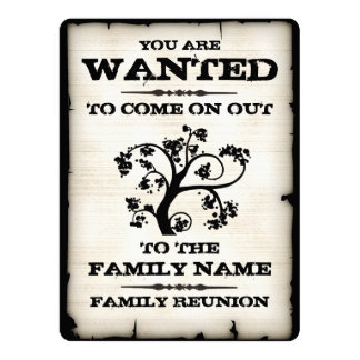 Wanted Family Reunion Card