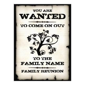 Wanted Family Reunion Custom Invite