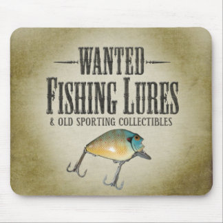 WANTED: Fishing Lures Mouse Pad