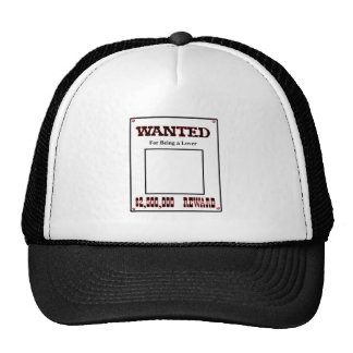 Wanted For Being A Lover Red The MUSEUM Zazzle Gif Trucker Hat