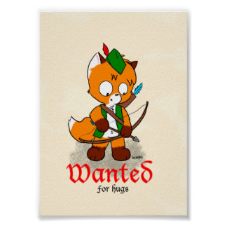Wanted for Hugs Poster