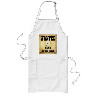 Wanted for Texas Holdem BBQ Apron