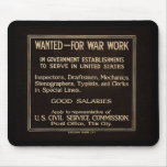 Wanted for War Work Vintage World War I Mouse Pads