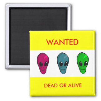 Wanted fridge aliens 2 inch square magnet