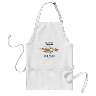 Wanted Gene Police (DNA Replication Humor) Adult Apron