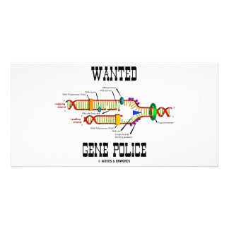 Wanted Gene Police (DNA Replication Humor) Photo Card Template