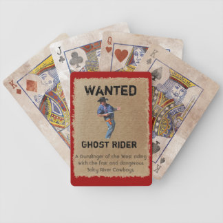 Wanted - Ghost Rider Playing Cards