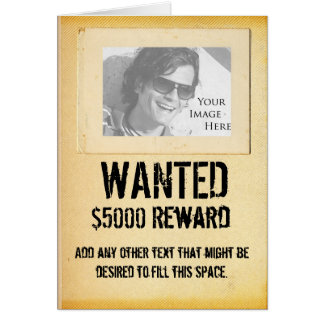 WANTED - Greeting Card