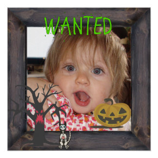 Wanted Halloween (Add your Photo) Poster