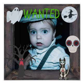 """""""Wanted"""" Halloween Ghosts and Ghouls Poster"""
