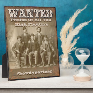 Wanted Hashtag Display Poster Plaque