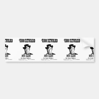 Wanted Jesse James Bumper Sticker