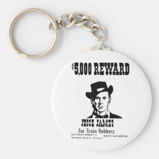 Wanted Jesse James Keychain