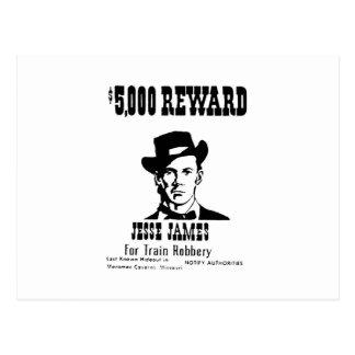 Wanted Jesse James Postcard