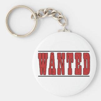 Wanted Basic Round Button Keychain