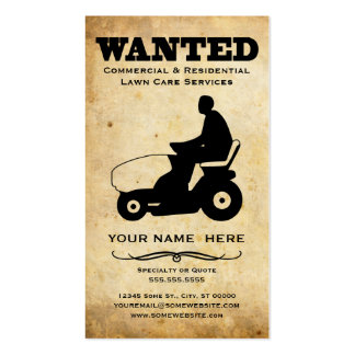 wanted : lawn care services Double-Sided standard business cards (Pack of 100)