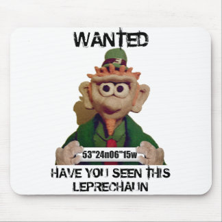 Wanted Leprechaun Mousepad