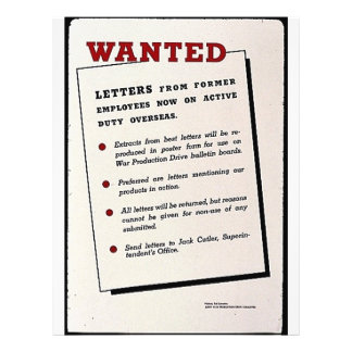 Wanted, Letters From Former Employees Now On Activ Flyers