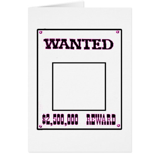Wanted Magenta transp The MUSEUM Zazzle Gifts Card