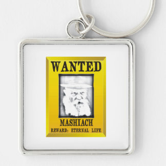 Wanted: Mashiach Silver-Colored Square Keychain