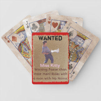 Wanted - Miss Kitty Playing Cards