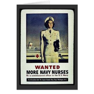 Wanted More Navy Nurses Card