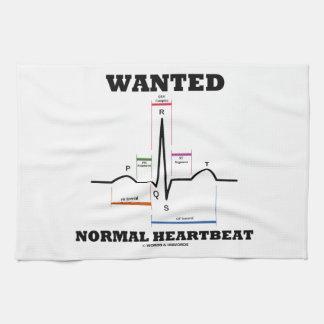 Wanted Normal Hearbeat (ECG/EKG Electrocardiogram) Hand Towels